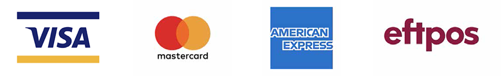 We accept visa mastercard american express eftpos